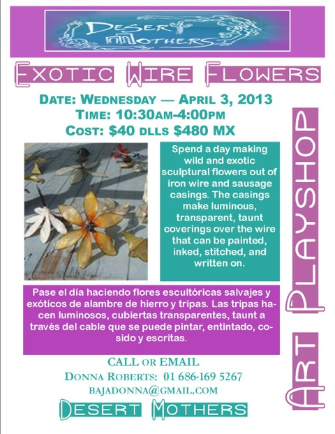 Exotic Flowers Flyer-San Felipe