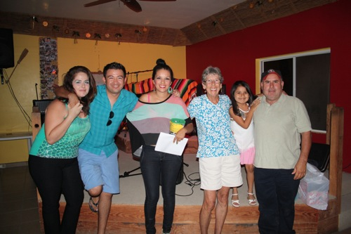 A photo from the Jollymon Fundraiser. Alberto is on the right with his daughter, Abril, Issac Diaz, Jackie and Susie (L to R) helped organize the fundraiser.
