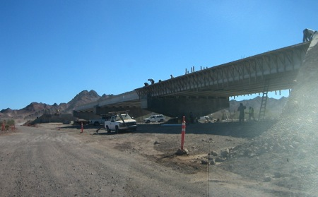 Bridge construction south of La Ventana
