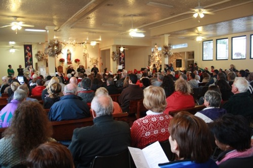 The church was packed