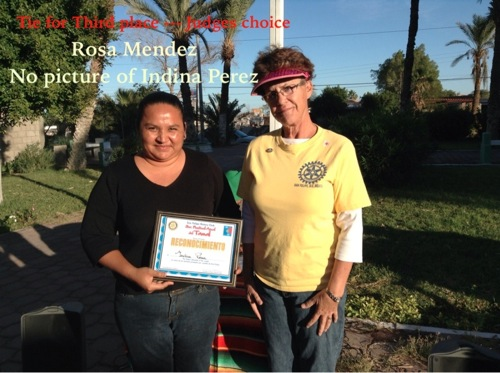 Third Place Winners Tied - between Rosa Mendez and Indina Perez