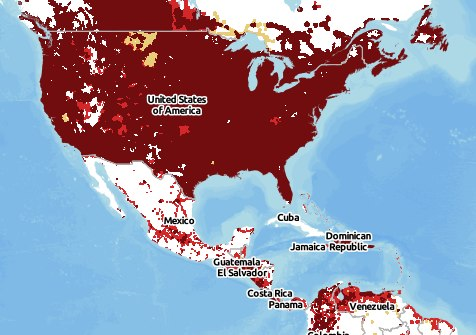 Cell Phone Coverage In Mexico Declines For US Verizon Customers - Us cellular coverage map vs verizon