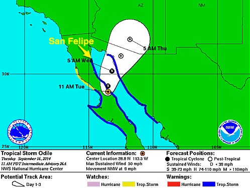 Tropical Storm ODILE 091614